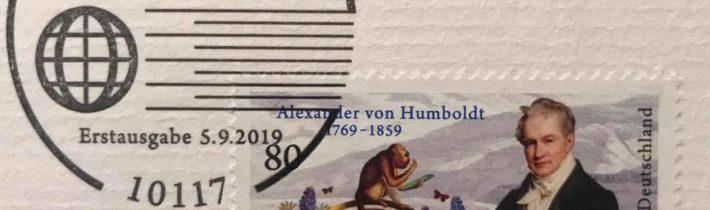 Briefmarke und Münze für Alexander von Humboldt